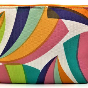 Clinique Rainbow Wave Cosmetic Travel Bag Purse